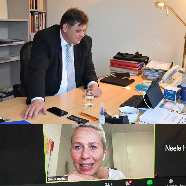 Jens Nacke und Silvia Breher im Chat mit unseren Mitgliedern